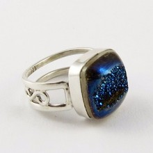 Instant Classic !! Blue Druzy 925 Sterling Silver Ring, Indian Fashion Silver Jewellery, Indian Silver Jewellery Supplier