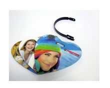 Sublimation Blank Custom Heart Shaped Photo Luggage Tag