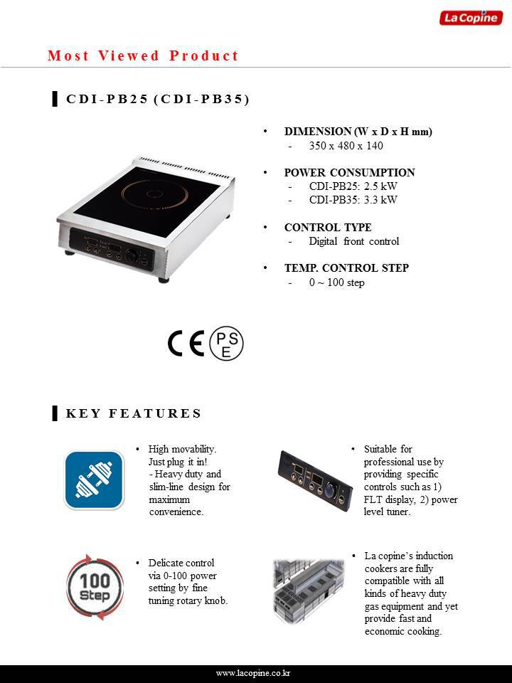 Commercial Induction Cooker Cdi-db25