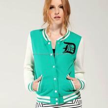 ladies baseball jackets/varsity jackets for girl/college jacket for women
