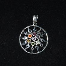 Mandala Seven Chakra Pendant - Wholesale Chakra Pendant