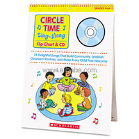 Scholastic Circle Time Sing-Along Flip Chart & CD Education Printed/Electronic Book by Paul Strausman