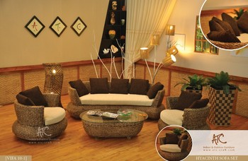 Best selling Natural rattan Wicker Sofa Set (Hand woven by wicker,hyacinth & wooden frame )