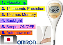 Auto power off digital thermometer, for measuring device, made in Japan