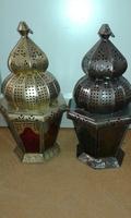 Moroccan & Arabic elegant brass lamp copper finished Lanterns-Wholesale Indoor Decor Lantern- Moroccan Style Hexagonal Lantern