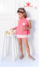 Girls Linen Set with Lace children