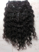 Unprocessed Virgin Remy clip in hair extensions