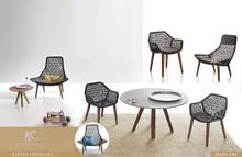 2015 Wicker synthetic rattan outdoor restaurant furniture