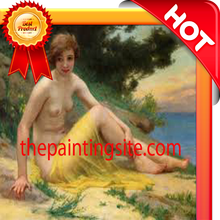 Modern oil painting nude art girl body sexy