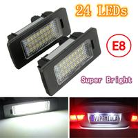 2X E-marked OBC Error Free 24 LED White License Number Plate Light Lamp For BMW E81 E82 E90 E91 E92 E93 E60 E61 E39 X1/E84