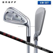 [golf iron] ONOFF Golf Forged Black Iron Set 6 pcs (5-P) smooth kick MP-715I Shaft