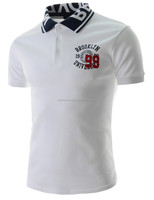 SHORT SLEEVES WHITE COTTON MEN EMBROIDERY CUSTOM DRI FIT POLO T-SHIRTS TEE