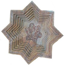 WOODEN FRUIT TRAY 8 ANGLE STAR