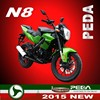 (N8) 2015 NEW 125cc motorcycle 200cc 250cc EEC COC powerful racing bike Italian design EXCLUSIVE (PEDA MOTOR)