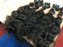 Indian coarse wavy temple raw virgin remy hair