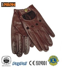 Driving Gloves Brown Color in 100% Leather