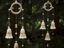 Bells made from white clay with pattern