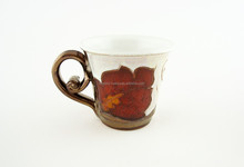 100% Handmade Espresso cup with gold decoration