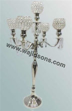 Wedding Crystal Candelabra 5 brazo Candelabra cristal centros de mesa candelabros, candelabros de metal, candelabros por mayor