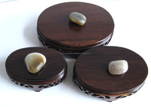 Jade Base-Oval shelves, Wooden carving, Rosewood carving