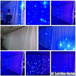 RK LED Star Curtain Bling Bling
