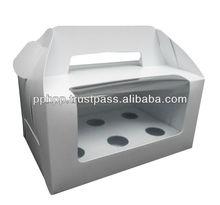 Window Cup Cake Handle Box 6pc