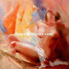 100% handpainted high quality indian nude woman oil painting