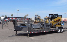 2012 Caterpillar 259B Skid Steer Loader w/ 38' Gooseneck Trailer & Attachments