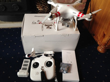 Buy 2 Get 1 Free DJI Phantom 2 Vision+ Quadcopter Flying Camera - BUNDLE - with Spare Lithium Battery, Professional Hard Case, a