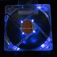 1Pc 120mm 4 Pin DC 12V LED Blue Light PC Computer Case Box CPU Cooler Cooling Fan 11.9x11.9x2.5cm