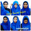 Instant tudung lipan chiffon hijab