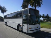 1998 White 45-Passenger Vanhool T2145 Party Bus for Sale #4500