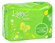 KOTEXE DAILY SUPER THIN NON WING FLORAL FLAVOUR PACK 20 PADS