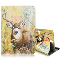 Rotary Cute annimal Pattern Leather Flio Cover case for Galaxy Tab 3 7.0 / Kindle Fire, Size: 20.3 x 14cm