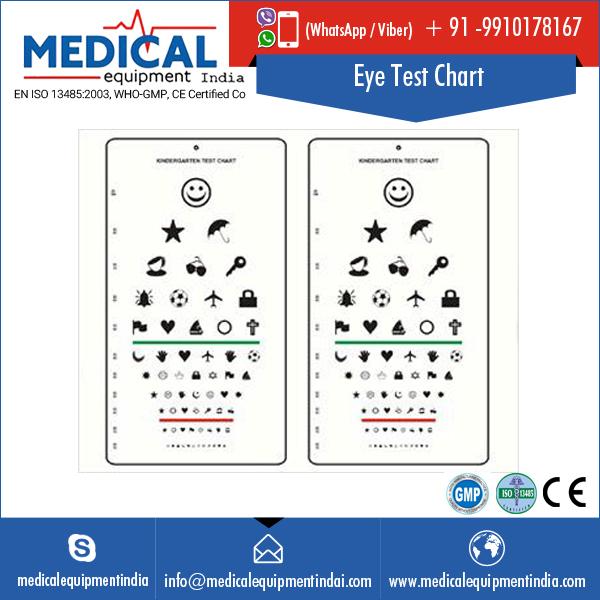 Kindergarten Eye Test Chart For Pediatric Testing Buy Eye Charts