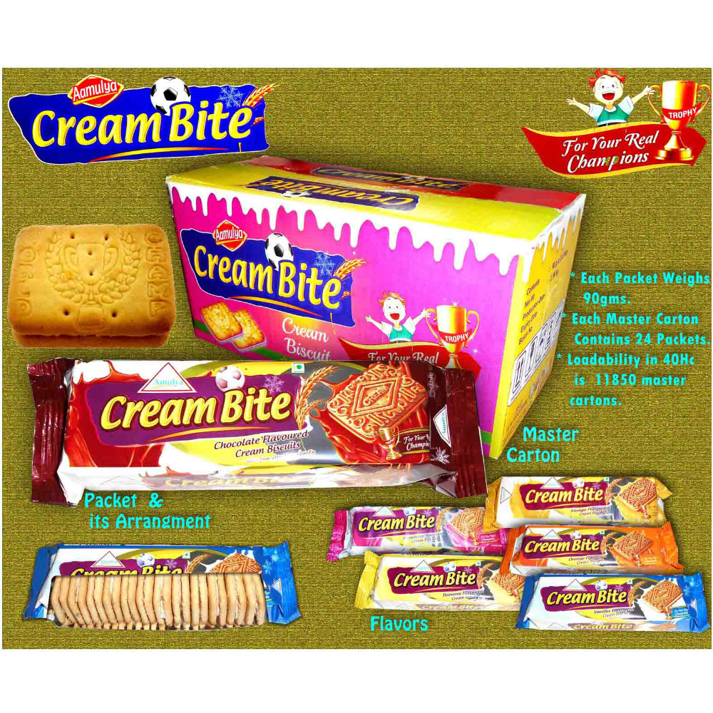 Cream sandwich biscuits / chocolat orange vanille banane mangue saveur crème biscuits