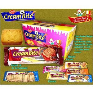 Cream sandwich biscuits / chocolat orange vanille banane mangue saveur crème biscuits