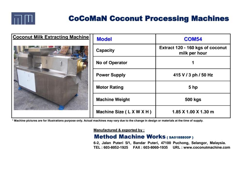 2017 CoCoMaN Coconut Milk Extracting Machine COM54 Catalogue.jpg