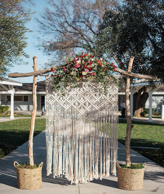 Macrame Wedding Arch Boho Style Macrame Wedding Backdrop