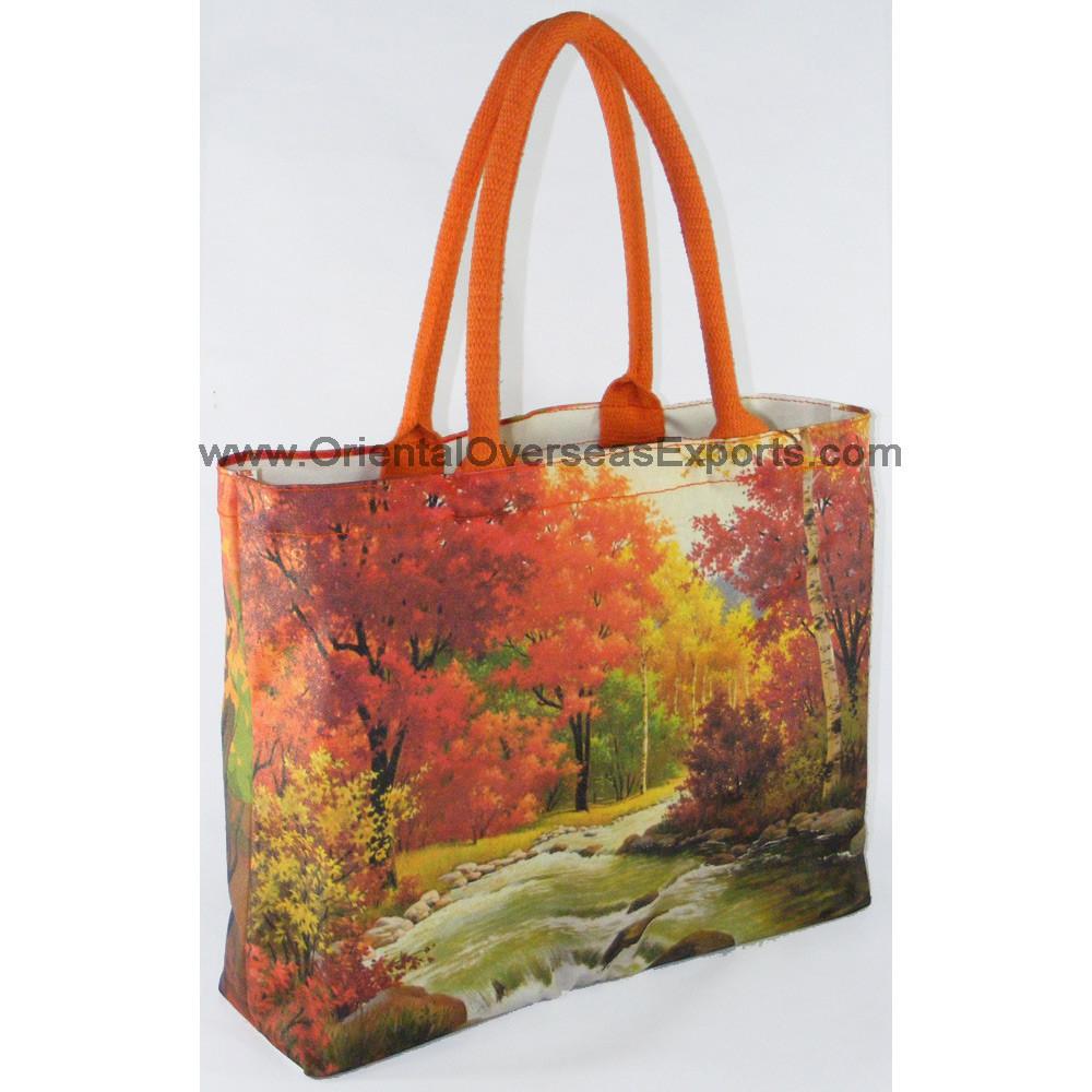 Дизайн свой собственный полный цвет Пользовательские Печатные tote bag онлайн на www. OrientalOverseasExports. com
